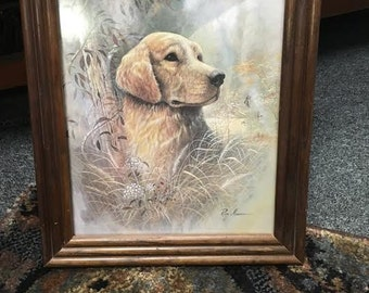 Ruane Manning Framed Print - The Golden Retriever, Vintage Artwork, Vintage Dog Print