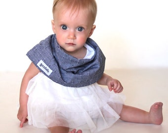 """Modern Bib (Chambray Union) All in One Scarf & Bib """"Scabib for babies or toddlers"""
