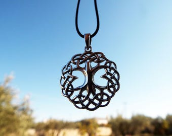 Tree of Life Pendant Sterling Silver 925 Handmade Celtic Necklace Jewelry
