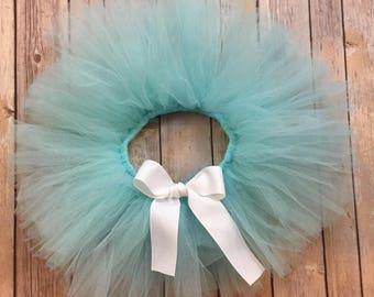 Aqua with Bow option Tutu Tulle Skirt