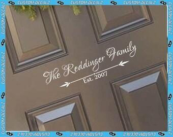 Elegant Front Door Scroll Vinyl Door Decal / Front Door Decal / Home Decal / Home Decor / Welcome Sign  / Greeting Decal