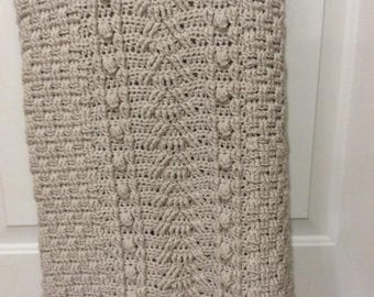 Cabled Afghan.
