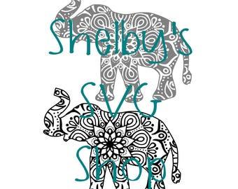 Elephant Mandala #4 - SVG