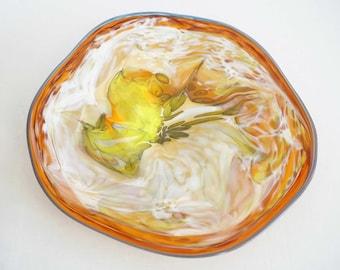 Wall Art Glass Blown Platter 683