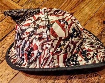 American Flag Hydrographic Firefighters Helmet Made to Order