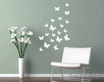 Butterfly Wall Decal, Butterfly Wall Decor, Butterflies Vinyl Wall Art Stickers, Butterfly Stickers, Butterflies Wall Decal for Nursery #A9