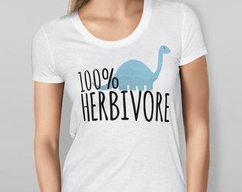 Women's 100% Herbivore Dinosaur T-shirt