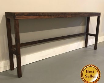 Long Console Table / Narrow Console Table / Skinny Console Table / Sofa Table / Behind Sofa Table / Behind Couch Table / Entry