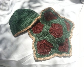 Newborn Turtle shell hat photo prop