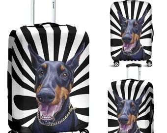 Doberman pinscher / luggage cover