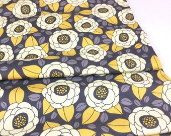 Aviary 2 Bloom Granite Color, Designed by Joel Dewberry for Free Spirit Fabrics, Cotton Quilt Fabric