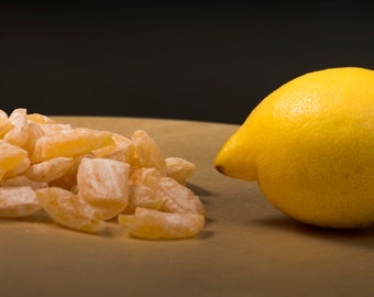 Hard candy with Lemon flavour - sweets - drops - wedding gifts