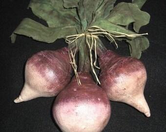 Primitive Folk Art Turnips Pattern