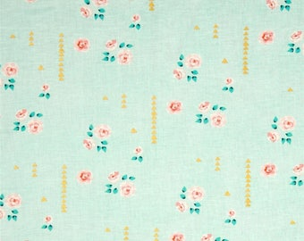 """Vintage flowers baby fitted sheet for crib, 28 x 52"""" fitted sheet"""