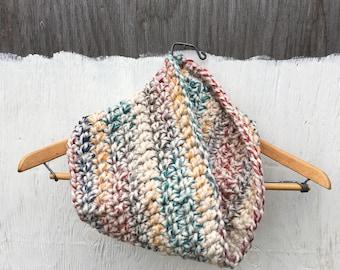VERA Cowl in Hudson Bay | Cozy | Crochet Scarf