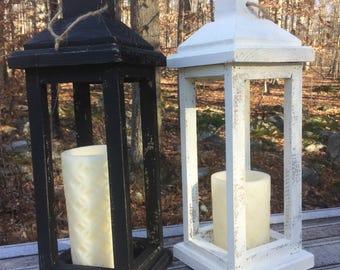 Lantern, Wood Lantern, Wooden Lantern, Pillar Candle Holder, Mantle Decor, Porch Decor, Rustic, Farmhouse, Wedding Decor