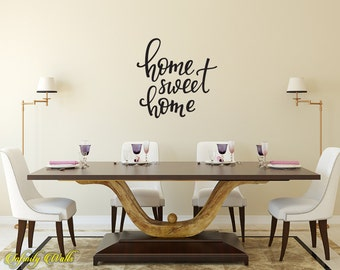 Home Sweet Home Decal - Home Wall Decal - Wall decal quote - Home Kitchen Decor - Inspirational Quote Decal - Home sweet home
