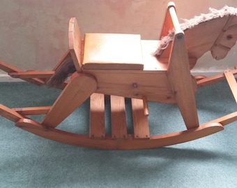 Vintage Solid Wood Rocking Horse