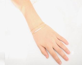 Simple Bar Bracelet • Delicate Bar Bracelet • Gold Bar Bracelet • Dainty Bar Bracelet • Gold Filled Bar Bracelet • Rose Gold Bar Bracelet