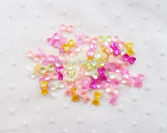 20pcs - Pretty Pearlized Bow Flatback Multicolored Mix Decoden (14x8mm) PRM103