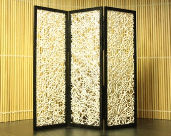 Modern miniature dollhouse folding screen - Entangled in white
