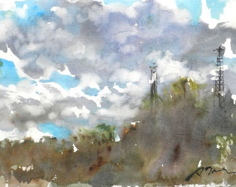 New England Spring-Scape No.100, original watercolor