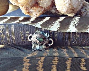 copper electroformed, quartz pendant, auqa aura quartz, healing pendant, gemstone healing, warrior pendant, copper necklace, copper, gifts