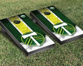 Portland Timbers Regulation Cornhole Game Set Stripe Designs