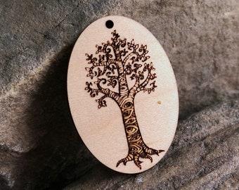 Seeing Tree Wooden Pendant