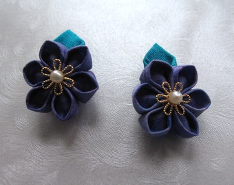 Violet Waters Kanzashi Flower Hair Clips