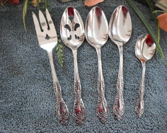 GALVESTON Oneida Usa Profile 18/8 Stainless 5 Serving Pieces Excellent