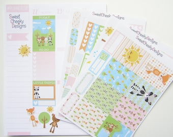 Woodlange Plushies Kit!  Available for Erin Condren Life Planner or MAMBI/Happy Planner