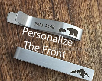 Mountain Tie Clip Papa Bear Tie Clip Papa Bear Tie Bar Mountain Tie Bar Mens Gift Mens Tie Clip For Papa Bear Tie Clip For Him Tie Clip