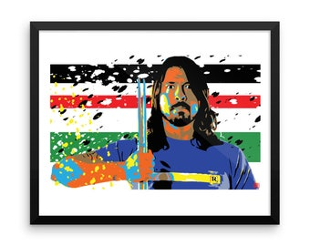16 x 20 Dave Grohl Foo Fighters Home Decor Pop Art Print Framed