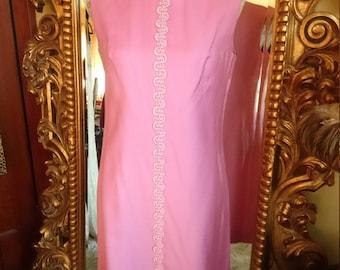 Vintage 1960's Pink Sheath Dress