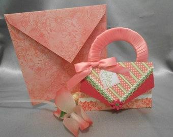 Handmade purse shape card.
