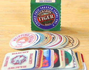 Vintage Chic Coster Label Stickers / Vol. 3 - 70 sheets (2.2 x 2.2in)