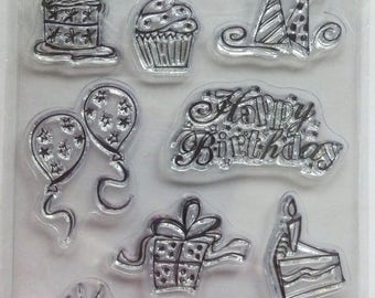 Stampology - Clear Mount Stamps- Happy Birthday