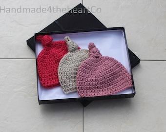 Baby hats, Crochet hats, newborn, 0-3 moths, Hats, Crochet, wool hats, gift, baby gift, girls hats, pink, neutural,
