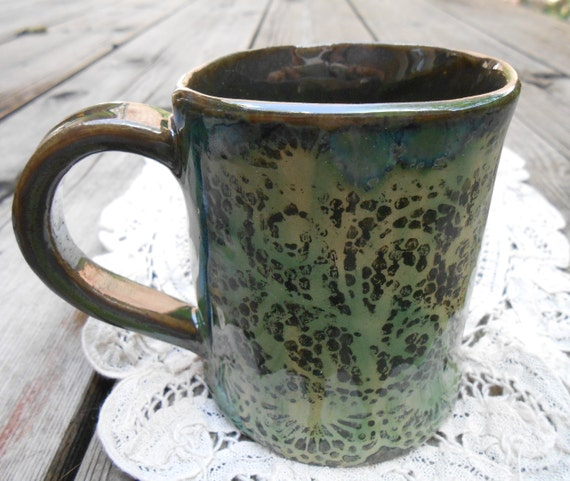 Mossy Lace Ceramic Mug