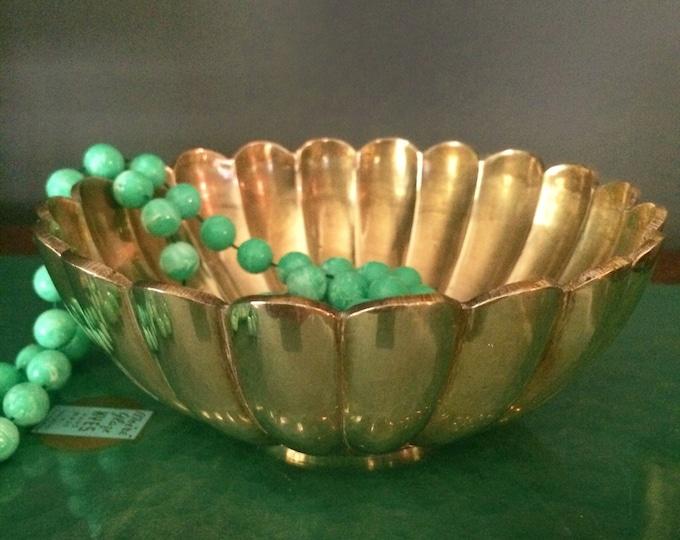 Brass scallop Indian dish vintage