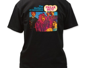 Frank Zappa Freak Out Men's 18/1 Cotton Tee  FZ02 (Black)