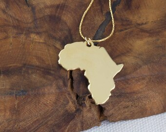 Africa etsy africa necklace african pendant africa charm travel necklace world map necklace mozeypictures Choice Image