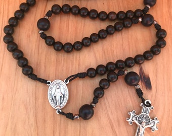 Miraculous Medal Rosary with Benedict Crucifix comes with Rosary Pouch