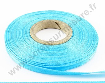 Roll - TURQUOISE - 3.5 mm x 6 m satin ribbon