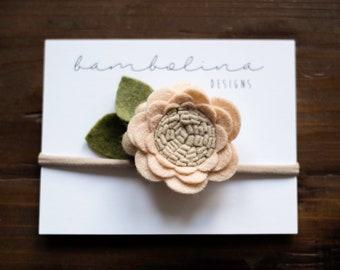 Neutral Tan || Rose Style Flower