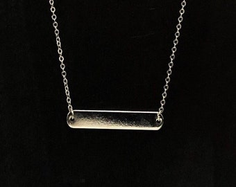 Nameplate Bar Necklace....Bar Necklace........SILVER