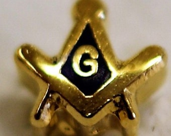 Masonic Square and Compass with G (small)  Lapel Pin (LP05)