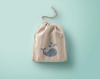 Cotton whale bag