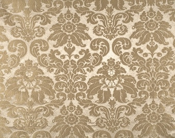 SCALAMANDRE GAUFRE Lotus Medallions SILK Damask Fabric 10 Yards Dove